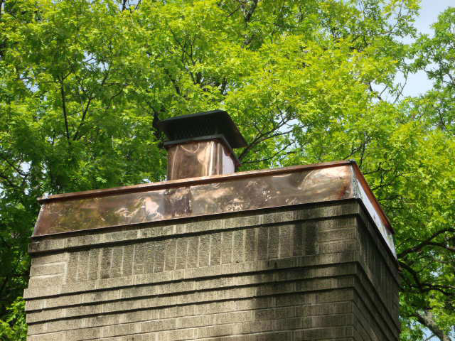 Copper flashing chimney (4)
