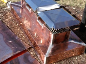 Finished Copper Chimney Cap