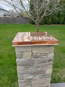 Copper Top Over Pillar