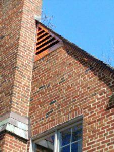 Copper gable vent